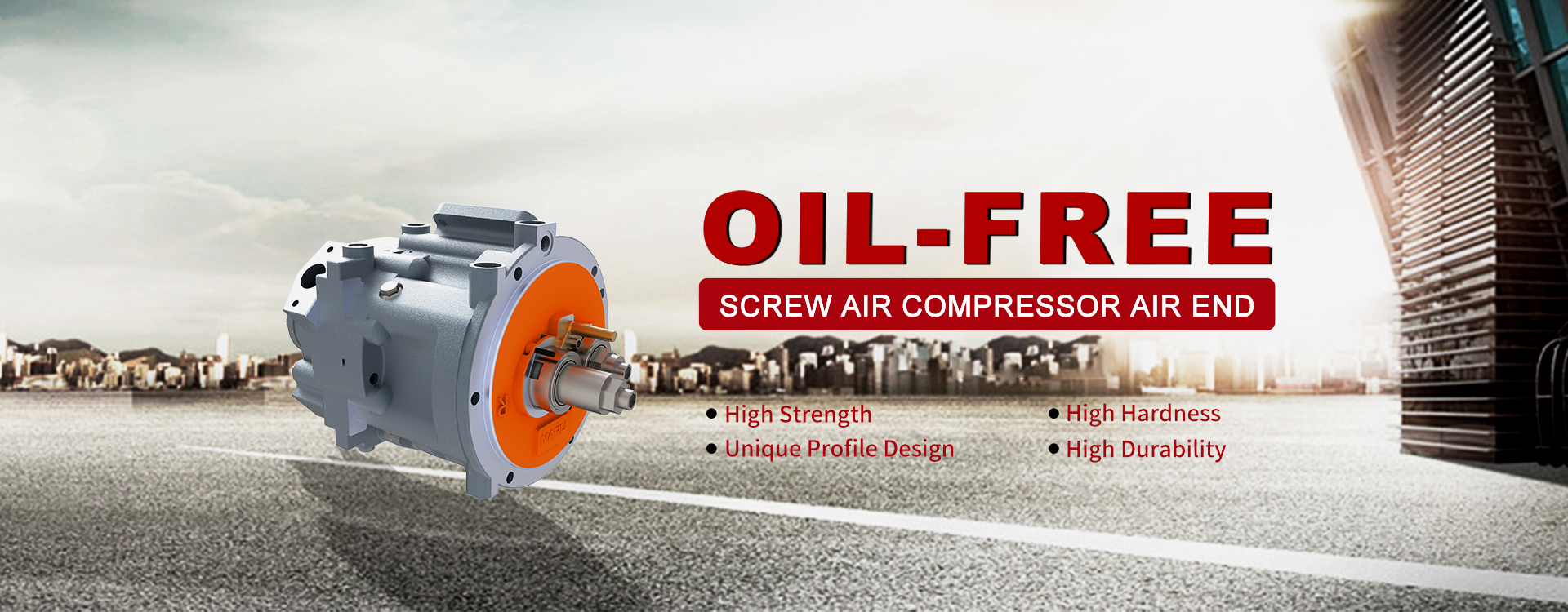Oil Free Screw Air Compressor Air End